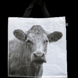 Sac à courses Vache N&B