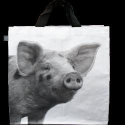 Sac à courses Cochon N&B