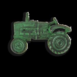 Décapsuleur mural tracteur en fonte