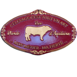 Plaque agricole Blonde d'Aquitaine