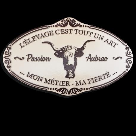 Plaque agricole Aubrac