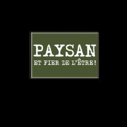 PAYSAN FIER DE L'ETRE - magnet frigo