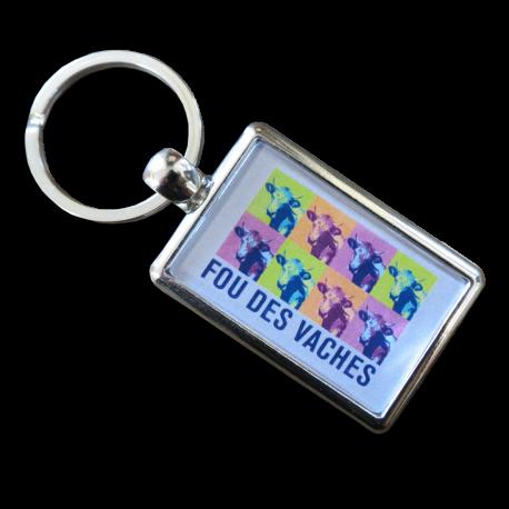 Porte-clefs Fou des vaches