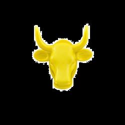 Cow Parade MAGNET jaune