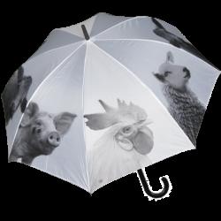 Parapluie Ferme N&B