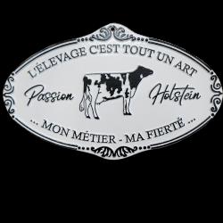 Plaque agricole Holstein